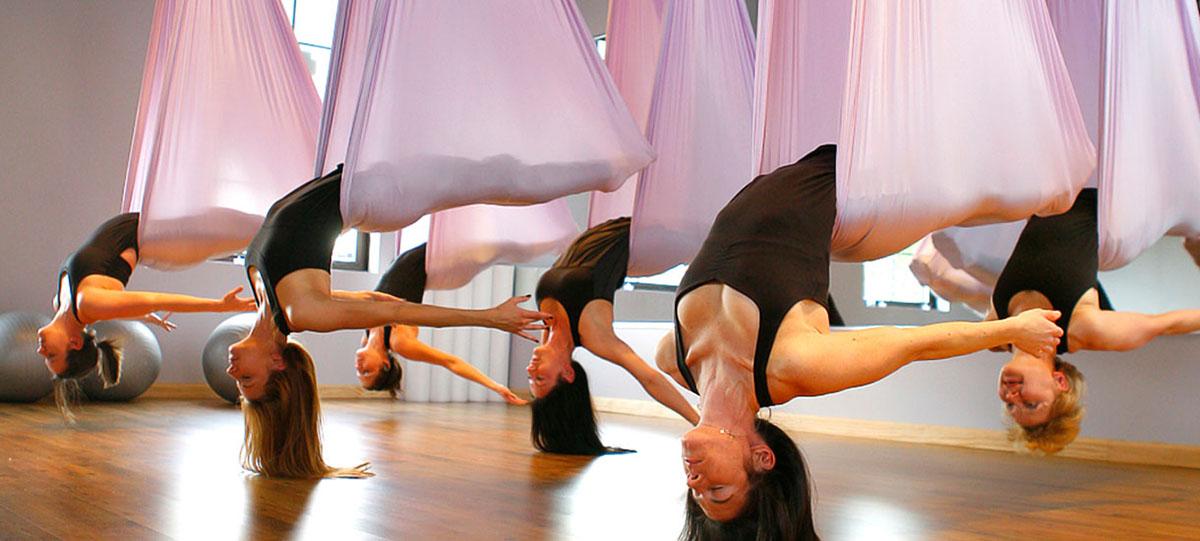 Aerial yoga slider
